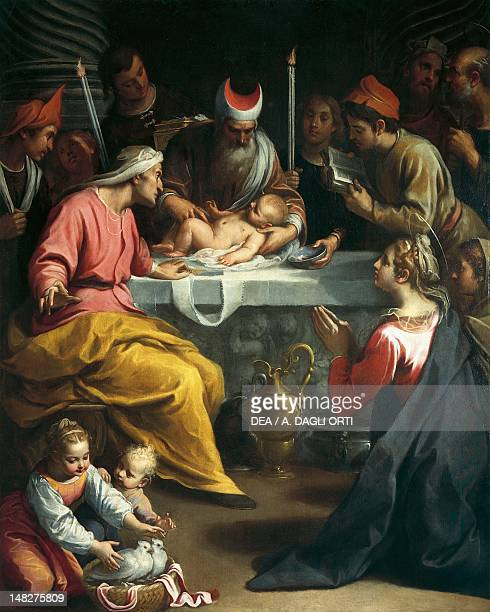 Circumcision of Christ by Claudio Ridolfi oil on canvas 203x169 cm Verona Castelvecchio