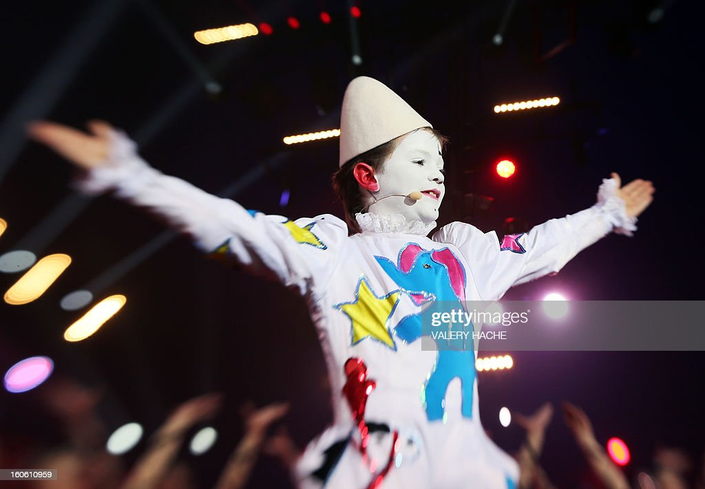 Circus artist Baptiste Raffy performs during the second New Generation International Circus Festival in Monaco on February 3, 2013. The event runs from February 2 until February 3, 2013.