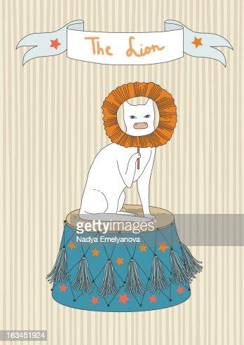 Circus cat : Foto de stock