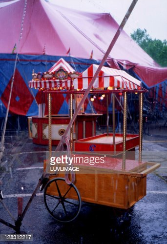 circus in the rain : Stock Photo