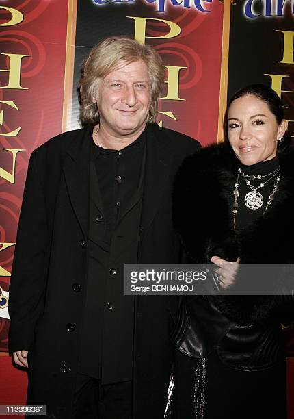 Circus Of Pekin In Paris On December 5Th 2005 In Paris France Here Patrick Sebastien And His Wife