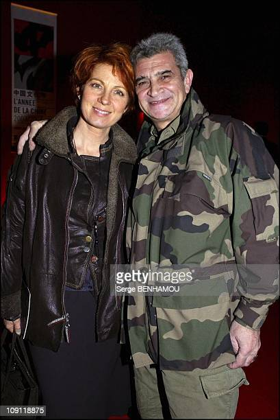 'Circus Of Pekin' Premiere On December 1 2003 In Paris France Veronique Genest And Her Husband Meyer