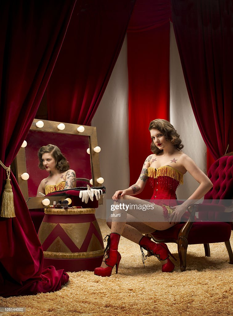 circus ringmaster burlesque : Stock Photo
