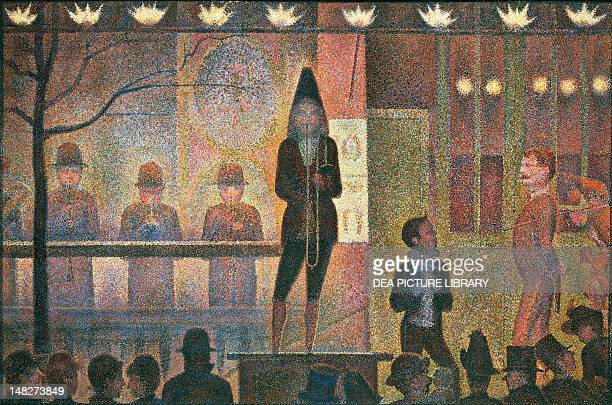 Circus sideshow by Georges Seurat oil on canvas 997x1499 cm New York The Metropolitan Museum Of Art
