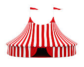 Circus Tent isolated on white background. 3D render