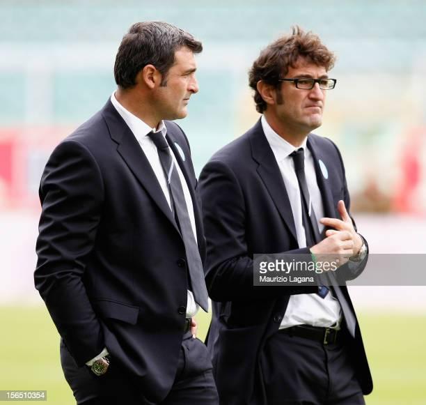 Ciro Ferrara head coach of Sampdoria and Angelo Peruzzi second coah during the Serie A match between US Citta di Palermo and UC Sampdoria at Stadio...