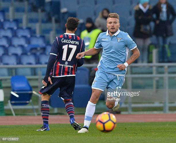 Ciro Immobile during the Italian Serie A football match between SS Lazio and FC Crotone at the Olympic Stadium in Rome on janaury 08 2017