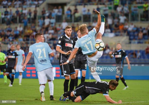 Ciro Immobile during the Italian Serie A football match SS Lazio vs Spal at the Olympic Stadium in Rome august on 20 2017