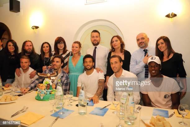 Ciro Immobile Federico Marchetti Felipe Anderson Lucas Biglia and Balde Diao keita of SS Lazio during the SS Lazio charity dinner on May 10 2017 in...