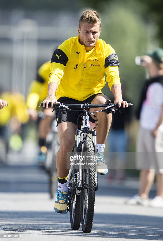 <a gi-track='captionPersonalityLinkClicked' href=/galleries/search?phrase=Ciro+Immobile&family=editorial&specificpeople=5820229 ng-click='$event.stopPropagation()'>Ciro Immobile</a> (BVB) of Borussia Dortmund during a training session on July 31, 2014 in Bad Ragaz, Switzerland.
