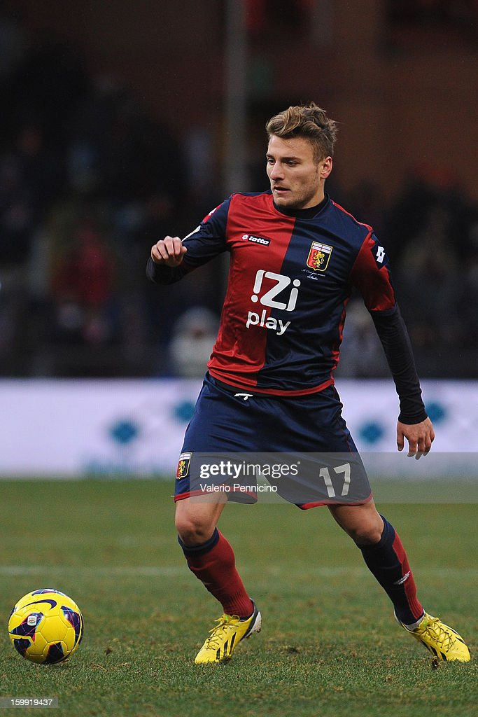 Ciro Immobile of Genoa CFC in action during the Serie A match between Genoa CFC and Calcio Catania at Stadio Luigi Ferraris on January 20, 2013 in Genoa, Italy.