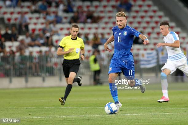 Ciro Immobile of Italy in action during the international friendly match between Italy and Uruguay Italy wins 30 over Uruguay