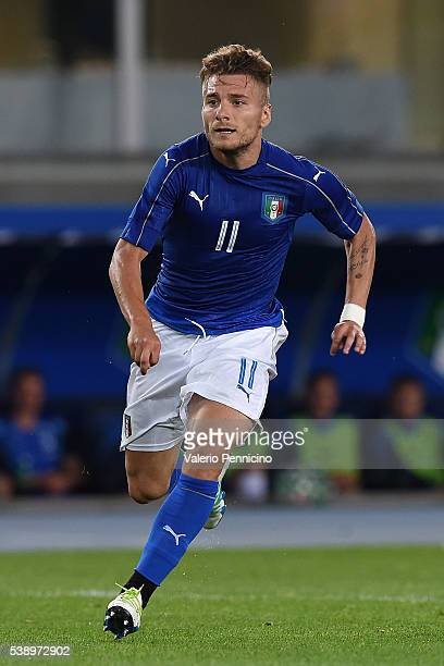 Ciro Immobile of Italy looks on during the international friendly match between Italy and Finland on June 6 2016 in Verona Italy