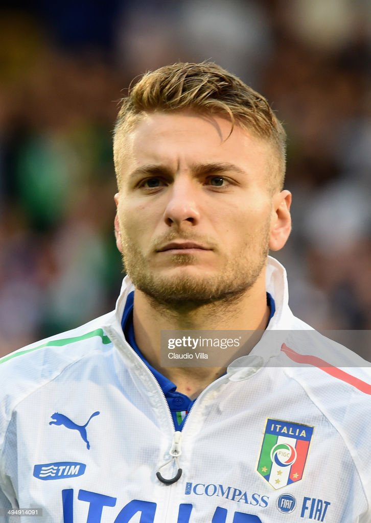 Ciro Immobile of Italy looks on prior to the International Friendly match between Italy and Ireland at Craven Cottage on May 31, 2014 in London, England.