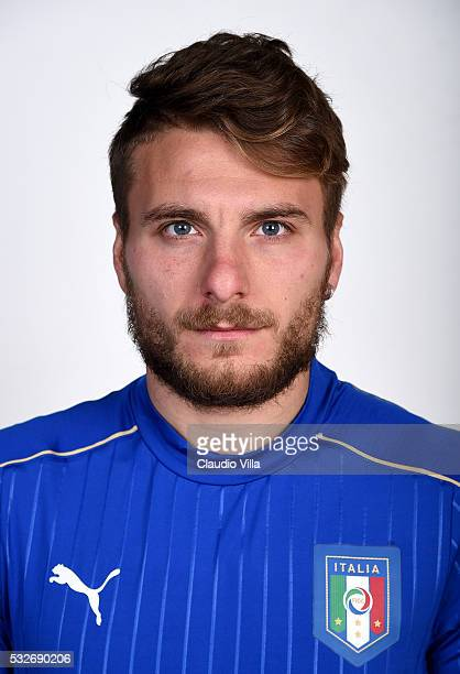 Ciro Immobile of Italy poses during the official portrait session at Coverciano on May 19 2016 in Florence Italy