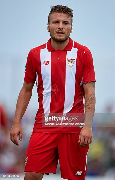 Ciro Immobile of Sevilla looks on during a Pre Season Friendly match between Sevilla and Alcorcon at Pinatar Arena Stadium on July 19 2015 in San...