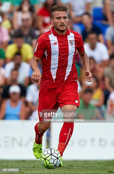 Ciro Immobile of Sevilla runs with the ball during a Pre Season Friendly match between Sevilla and Alcorcon at Pinatar Arena Stadium on July 19 2015...