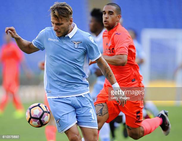 Ciro Immobile of SS Lazio in action during the Serie A match between SS Lazio and Empoli FC at Stadio Olimpico on September 25 2016 in Rome Italy