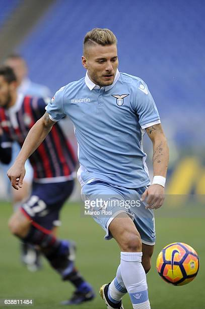 Ciro Immobile of SS Lazio in action during the Serie A match between SS Lazio and FC Crotone at Stadio Olimpico on January 8 2017 in Rome Italy