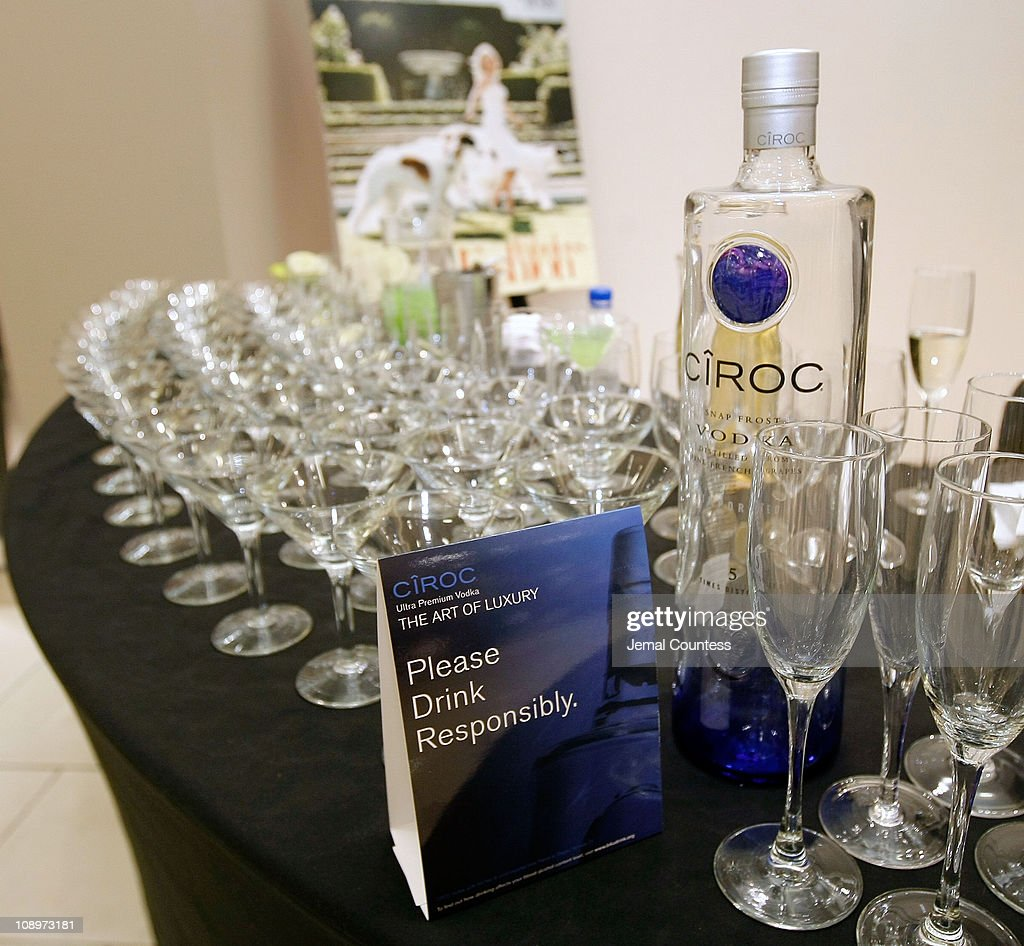 Ciroc Vodka display at the Saks & Harper's Bazaar Celebration of Falls Most Elevated Collections on Two at Saks Fifth Avenue on September 25, 2008 in New York City.