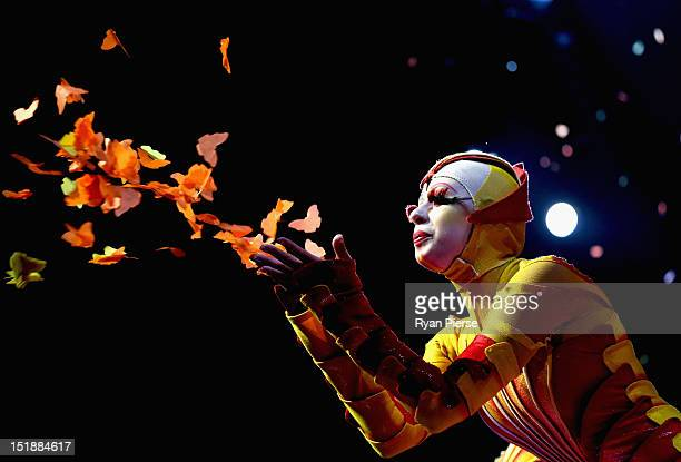 Cirque Du Soleil cast members perform during the dress rehearsal of Ovo at the Entertainment Quarter on September 12 2012 in Sydney Australia