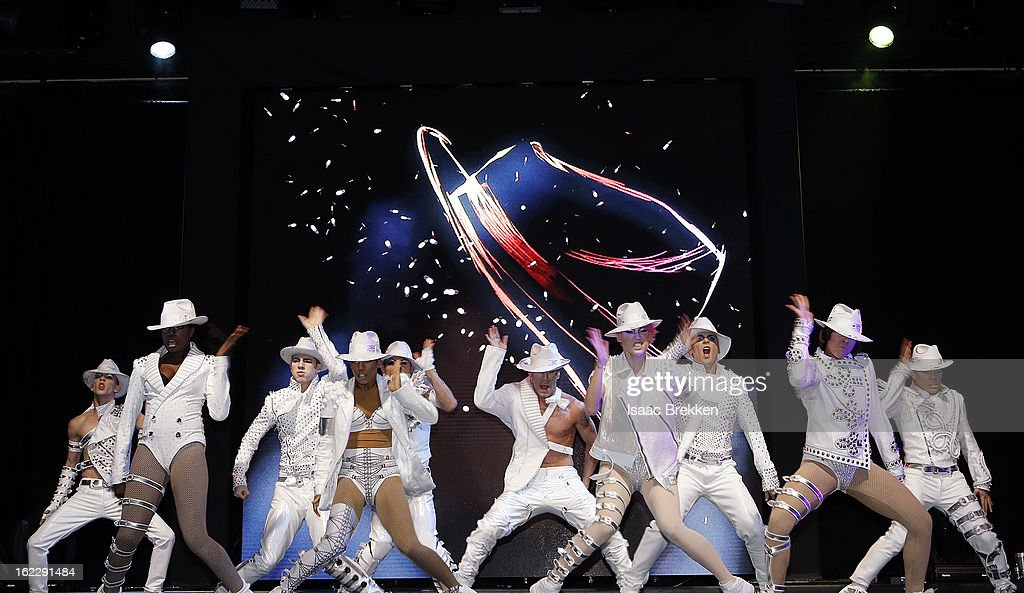 Cirque du Soleil dancers perform following a news conference announcing 'Michael Jackson ONE' at the Mandalay Bay Resort & Casino on February 21, 2013 in Las Vegas, Nevada.