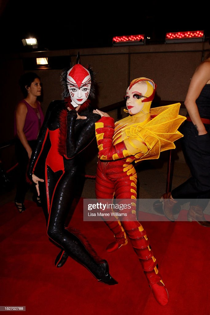Cirque Du Soleil performers arrive at the 2012 Helpmann Awards at the Sydney Opera House on September 24, 2012 in Sydney, Australia.