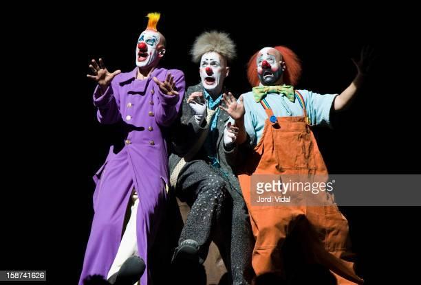 Cirque du Soleil performs Alegria at Palau Sant Jordi on December 26 2012 in Barcelona Spain