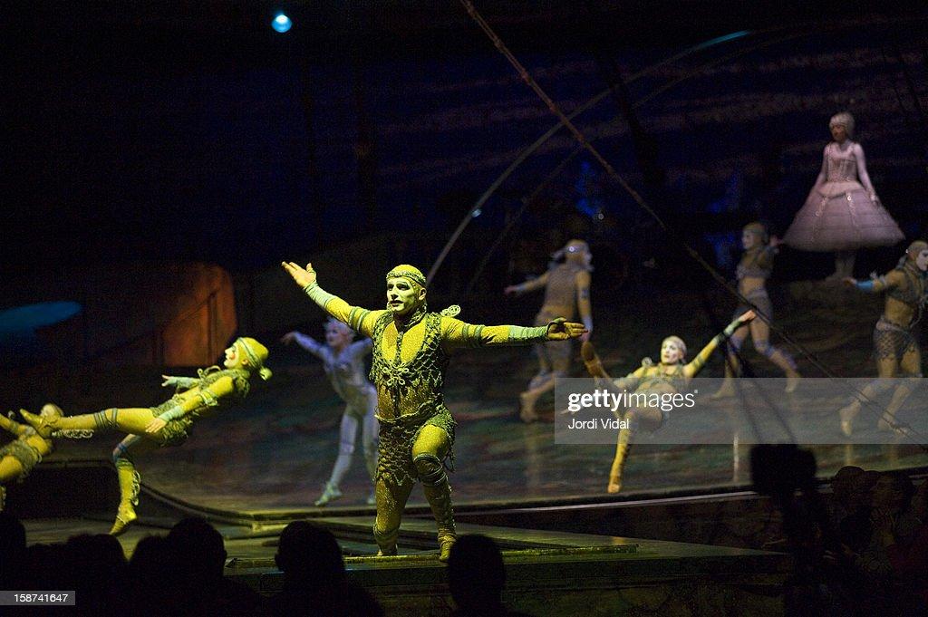 Cirque du Soleil performs Alegria at Palau Sant Jordi on December 26, 2012 in Barcelona, Spain.