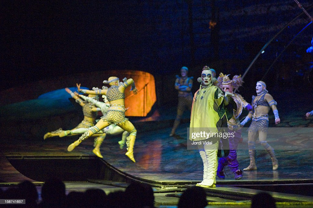 Cirque du Soleil performs Alegria at Palau Sant Jordi on December 26, 2012 in Barcelona, Spain.