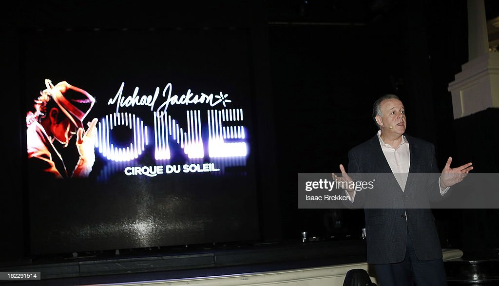 Cirque du Soleil Senior VP Jerry Nadal speaks during a news conference announcing 'Michael Jackson ONE' at the Mandalay Bay Resort & Casino on February 21, 2013 in Las Vegas, Nevada.