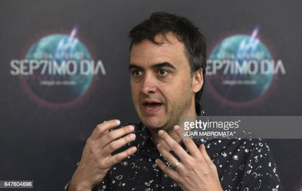 Cirque du Soleil's show 'Soda Stereo SEP7IMO DIA No Descansare' executive producer Diego Saenz talks with AFP during an interview in Buenos Aires on...