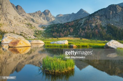 Cirque of the Towers, Wind River Range Wyoming : Stock Photo
