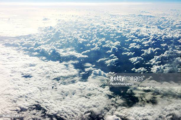Cirrocumulus clouds from above