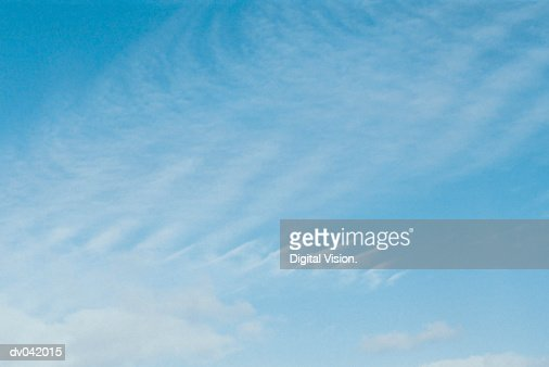 Cirrus clouds in sky : Stock Photo