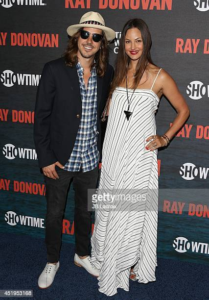 Cisco Adler Barbara Stoyanoff attend the Season 2 Premiere Of Showtime's 'Ray Donovan' at Nobu Malibu on July 9 2014 in Malibu California