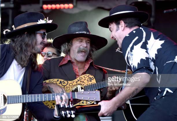 Cisco Adler Donavan Frankenreiter and G Love of Jamtown perform during the Monterey International Pop Festival 2017 at Monterey County Fairgrounds on...