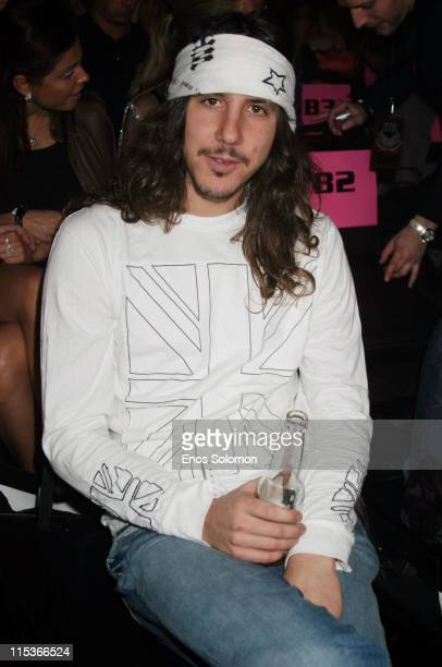Cisco Adler during Cadillac Presents Rock Republic Fall 2005 Fashion Show Backstage and Front Row at Sony Studios in Culver City California United...