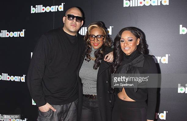 Cisco Rosado singer Olivia Theresa Longott and Tahiry Jose attend The New Billboard Launch Event at Stage 48 on February 21 2013 in New York City