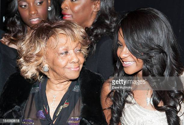 Cissy Houston and Bobbi Kristina Brown attends 'The Houstons On Our Own' Series Premiere Party at Tribeca Grand Hotel on October 22 2012 in New York...