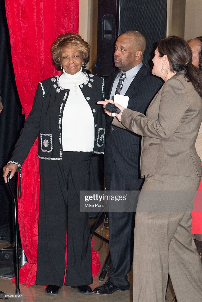 <a gi-track='captionPersonalityLinkClicked' href=/galleries/search?phrase=Cissy+Houston&family=editorial&specificpeople=1019962 ng-click='$event.stopPropagation()'>Cissy Houston</a> (Left) attends Madame Tussauds Whitney Houston Wax Unveiling at Madame Tussauds on February 7, 2013 in New York City.
