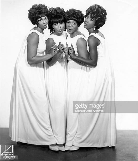 Cissy Houston Myrna Smith Estelle Brown and Sylvia Shemwell of the vocal group 'The Sweet Inspirations' pose for a portrait in circa 1967 in New York...