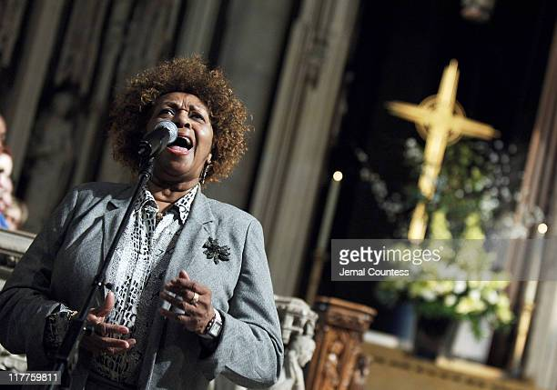Cissy Houston sings at The 'Realizing the Dream' Martin Luther King Jr Tribute at Riverside Church in New York City on January 15 2006