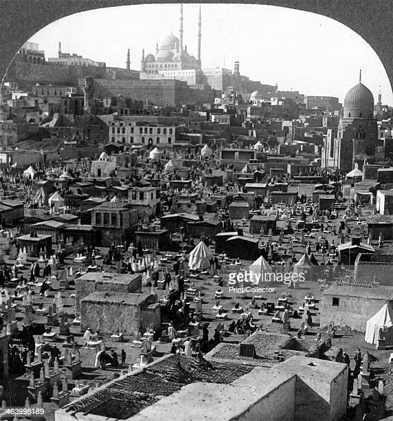 'Citadel and Mohammed Ali Mosque beyond BabelWezir cemetery Cairo Egypt' 1905 'The city did not originally include the citadel before us In 1176...