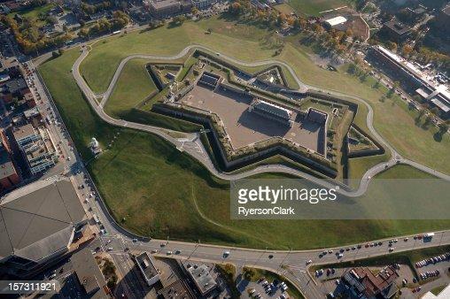 Citadel Hill, Halifax Nova Scotia Canada. Aerial view