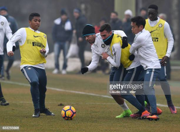 Citadin Martins Eder in action during a FC Internazionale training session at Suning Training Center at Appiano Gentile on February 1 2017 in Como...