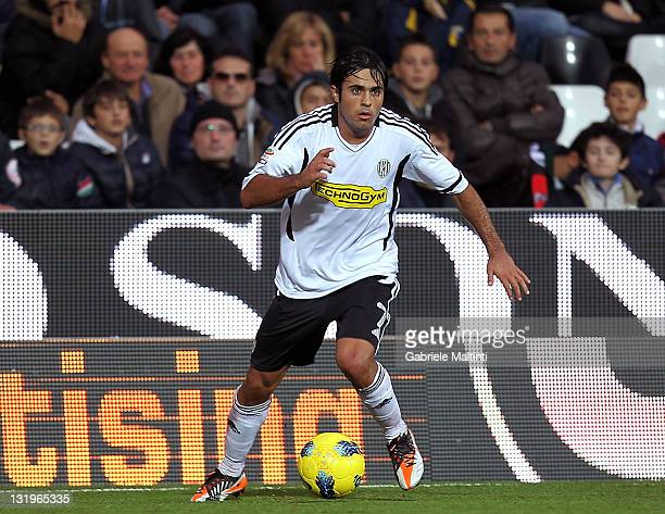 Citadin Martins Eder of AC Cesena in action during the Serie A match between AC Cesena and US Lecce at Dino Manuzzi Stadium on November 6 2011 in...