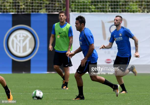 Citadin Martins Eder of FC Internazionale in action during a FC Interazionale training session at Suning training center on July 20 2017 in Nanjing...