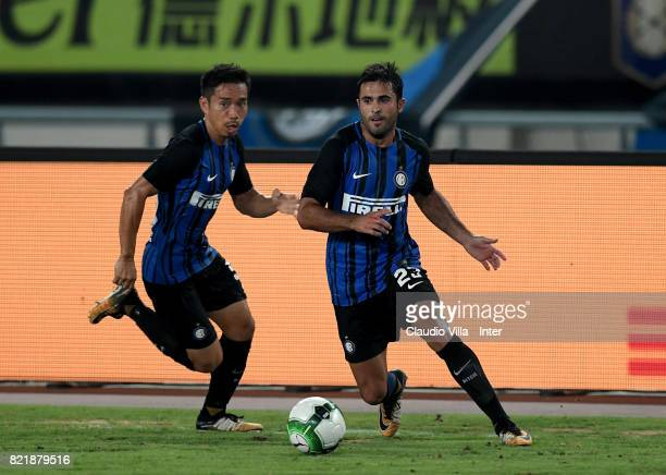 Citadin Martins Eder of FC Internazionale in action during the 2017 International Champions Cup match between FC Internazionale and Olympique...