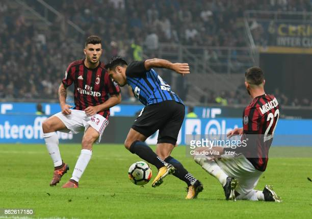 Citadin Martins Eder of FC Internazionale in action during the Serie A match between FC Internazionale and AC Milan at Stadio Giuseppe Meazza on...